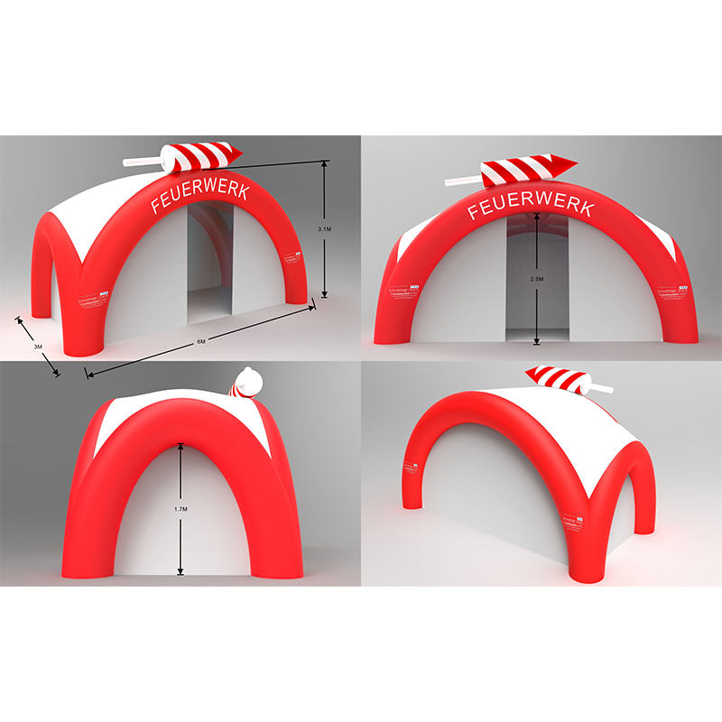 160314056 Various colorful inflatable dome tent for business and activity