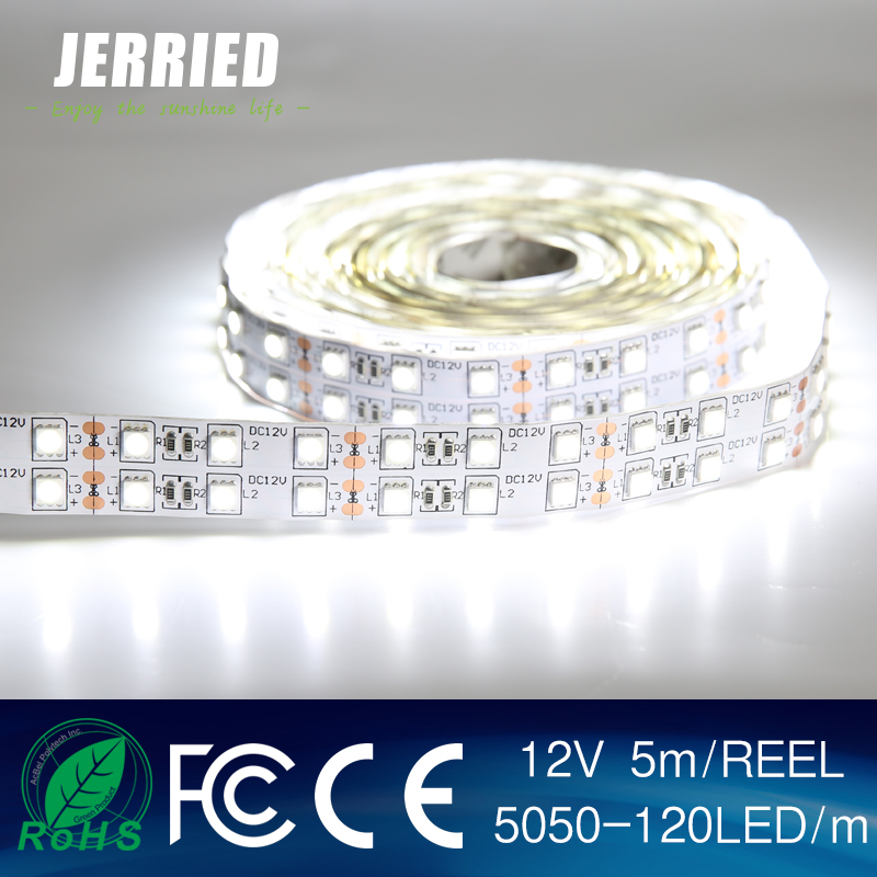 Waterproof led light 12v, 3 in1 chip 5050, 120LEDs, single color led lighting robot costume led strip light
