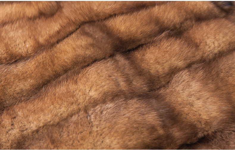 High Quality Factory Direct Sale Brown Sobol Sable Fur Coat
