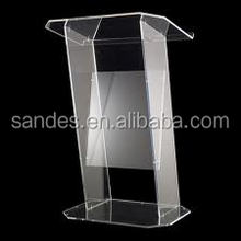 Professional Design Acrylic Church Lectern Glass Podium Lucite School Dais