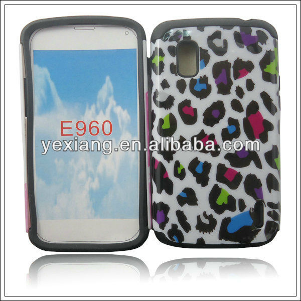 Multicolour speckle light up phone cover ,case for LG E960