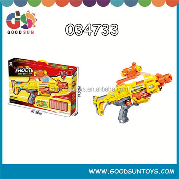 Modern design battery operated soft gun b/o toy spray gun toy gun for export