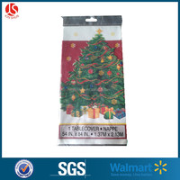 non-woven plastic christmas tree laminated table covers