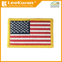 American flag design plain embroidery badge, hand embroidered patch