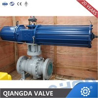 Trunnion mounted cast steel 2pc ball valves pneumatic drive