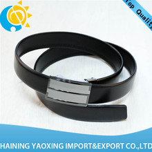 Cheap leather belt with covered buckle oem manufacturer