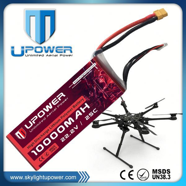 Upower lipo battery 14.8v 6000mah 30c 40c 50c 60c 70c lipo battery for RC drone UAV