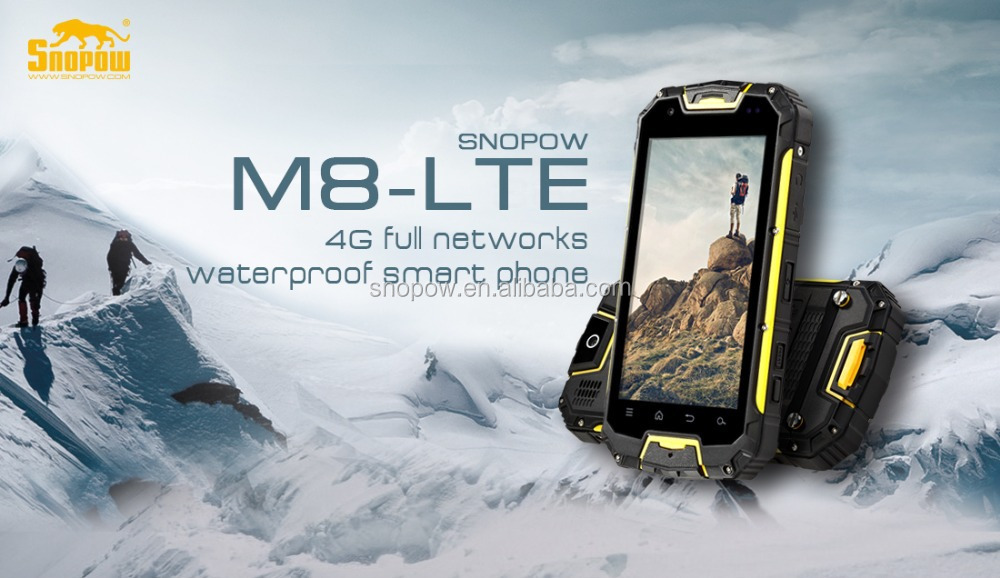 Snopow M8 IP68 waterproof 2G 3G 4G-LTE full networks android 5.1 OTG NFC RFID walkie talkie 4g lte smartphone octa-core