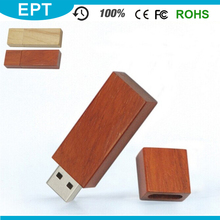 Wood Keychain 128GB Cuboid USB Flash Drive Audio Player