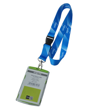 Gradient color custom lanyards colorful printing lanyard carabiner for staff