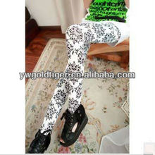 Get Certification Winter Super-elastic Phoenix Totem Chinese Blue and White Porcelain Charm Painting Style Print Leggings