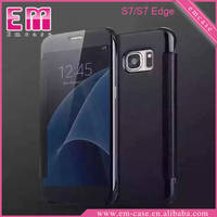 Transparent PC Flip Case For Galaxy S7 Ultra Thin PC Case For Galaxy S7 Edge