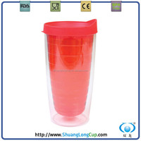 Promotional gift, Double Wall plastic tumblers, double wall insulated cup