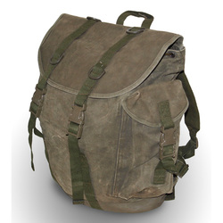 Big Brown Army Canvas Backpack