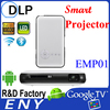 Home video movie projector EMP01 Rockchip 3128 Quad-Core Cortex-A7 lamp 50-80Lumens android projector