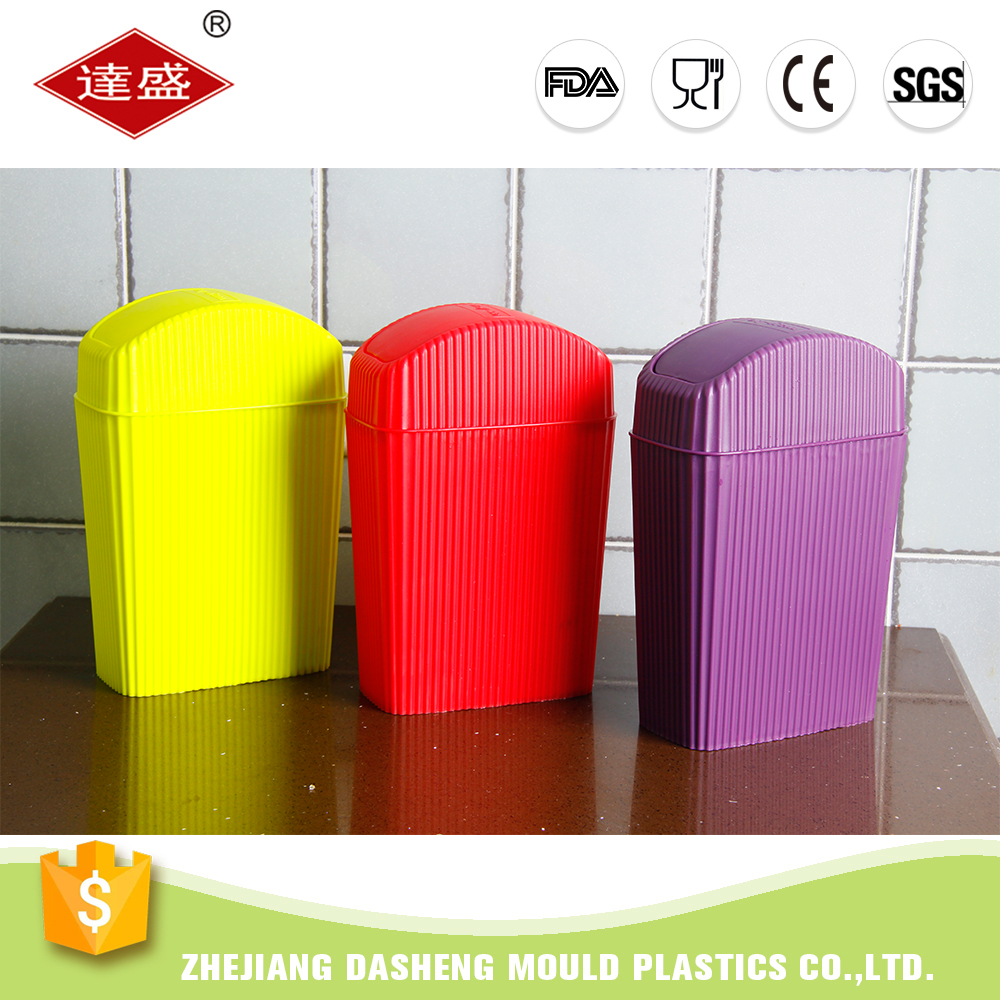 Home &office big sized practical plastic tabletop dustbin