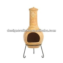 garden clay fire pit with stand