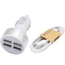 Best Price 4 Port USB Car Chargers 12V 4 USB In Charger Car Power Supply For Cell Phone