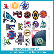 manufacturer custom static sticker cling for the inside of car windows decals