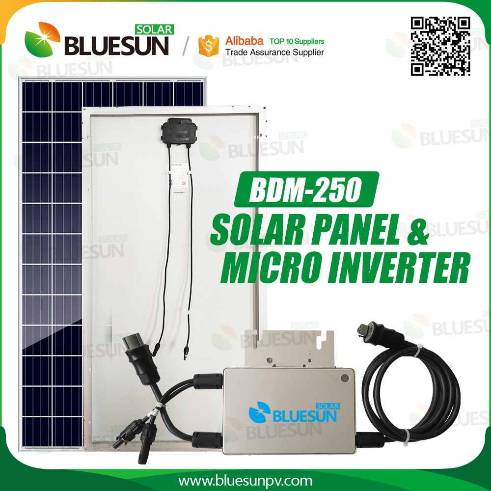 250w solar panel with micro inverter solar power system grid tie for sale