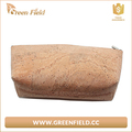 Customed cork fabric mini cosmetic makeup bag with zipper