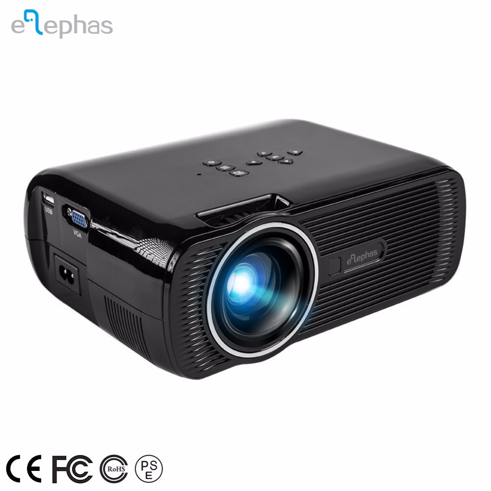 Video Projector 1200 Lumens Portable LCD LED Projector for Parties, Home Entertainment, Camping with HDMI cable, Black