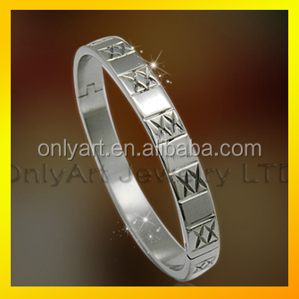 dubai luxury double color plated cuff band 316L stainless steel bracelet