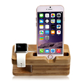 BRG For apple wood bamboo phone charging stand for smartphone for Apple Watch