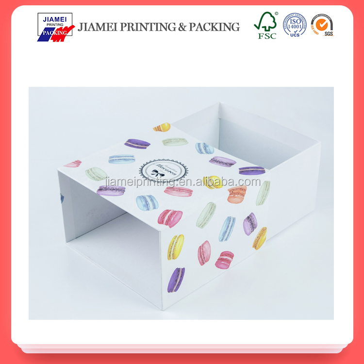 good quality draw out pull out custom logo printed hard cardboard paper packing box
