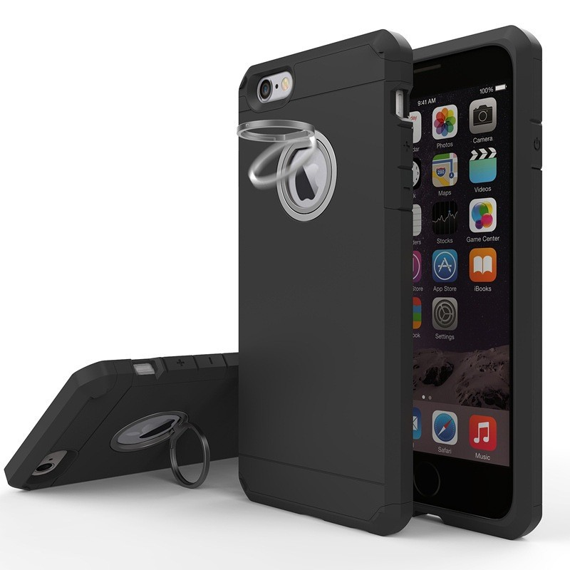 Durable ring Kickstand mobile phone case armor shell for iphone 7