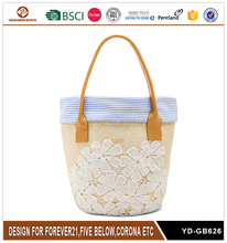 Simple Lace Summer Beach Straw Bag for Women Good Quality
