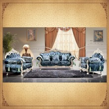 Traditional Classic Sofa Set Victorian Luxurious Handmade Curved 3+2+1 Living Room Sofa Export to Arabic Furniture
