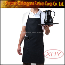 Promotion cheap cotton kitchen aprons with custom pattern