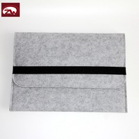 Customized size polyester felt 13 inch laptop bag with inner pocket