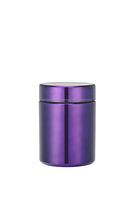 250ml HDPE Purple chromed plastic Container for protein powder
