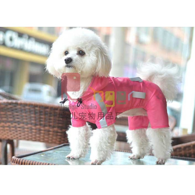 2017 Fashion factory direct pet clothes Dog raincoat
