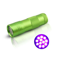 12 LED UV Flashlight Torch Detect Pet Urine and Air Condition System Leaks Mini UV Torch D09UV