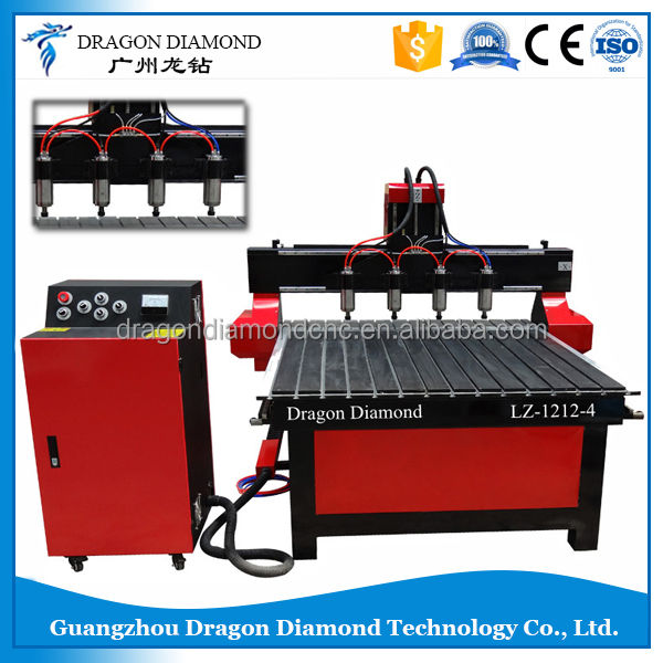 LZ-1212-4 four heads Mdf Wood Cnc Router Kit for sale,Multi spindle MDF carving wood router