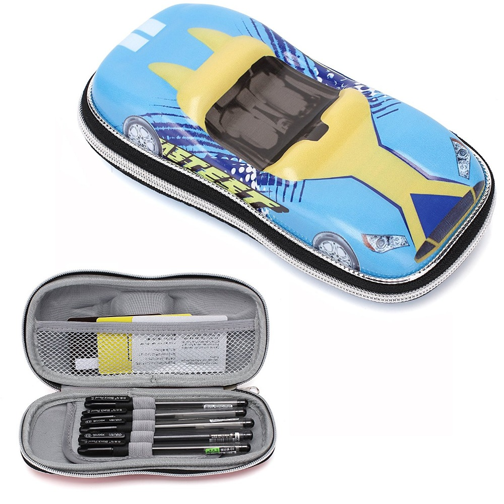 kids car shape box hard shell EVA pen and pencil case