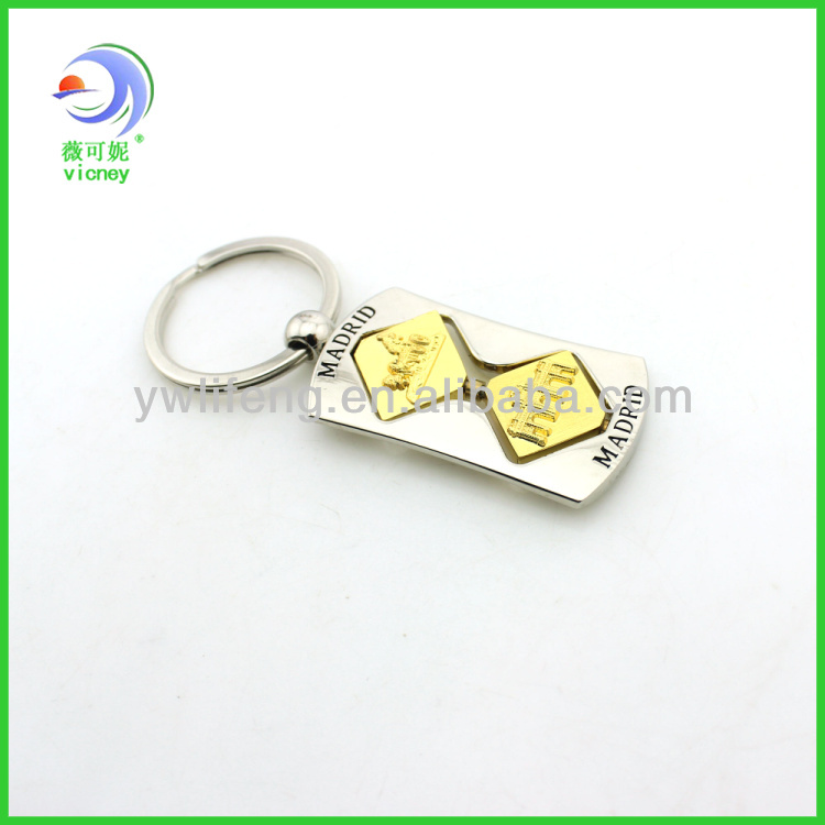 2014 top selling high quality metal souvenir keychain