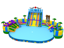 Kids N adults giant inflatable water park with large inflatable pool