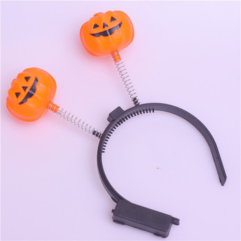 children headband Halloween decorations pumpkin head hoop