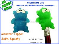 squeeze cartoon pencil topper small plastic dragon toys