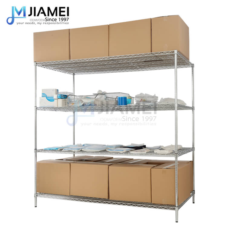 4 Shelves Factory Warehouse Rack