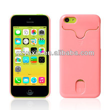Deft Design Case for iPhone 5C with Credit Card Slots and Holder,Plastic Cases for Iphone 5c