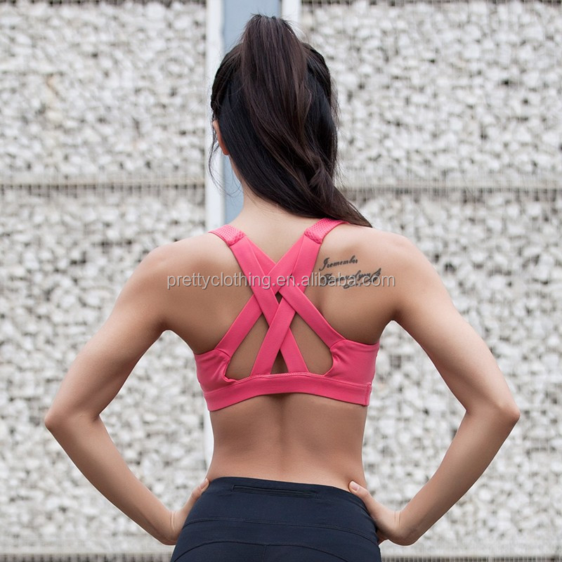 Womens Requisite Breathable Professionional Gym Training Sweat Sports Bra