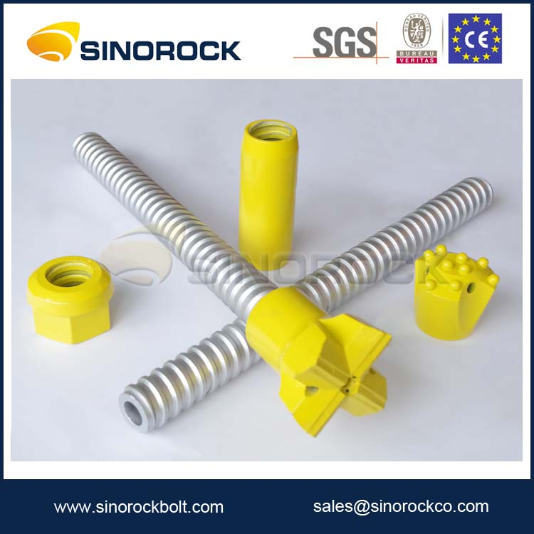 SINOROCK Sell Well Hollow Self Drilling Mining Rock Bolt