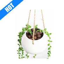 customized white glazed hanging flower ceramic water garden pots