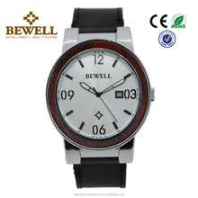 metal Stainless Steel and Wood Watches genuine leather watch for men