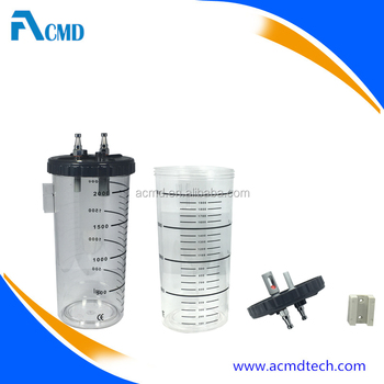 High Quality Medical Vacuum Canister Suction Jar for Vacuum Regulator